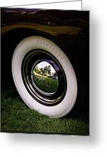 Reflections In A Hubcap Greeting Card