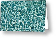 Reflections In A Swimming Pool Greeting Card