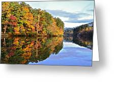 Reflections Of Autumn Greeting Card by Susan Leggett