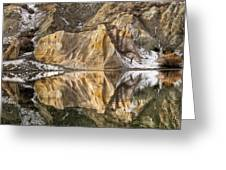 Reflections Of Clay Cliffs In Blue Lake Greeting Card
