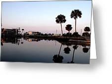 Reflections Of Keaton Beach Marina Greeting Card
