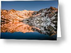 Reflections On Angel Lake Greeting Card