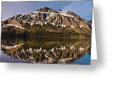 Reflections On Red Eagle Mountain Greeting Card