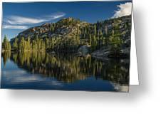 Reflections On Salmon Lake Greeting Card