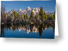 Reflections On Schwabacher Landing Greeting Card