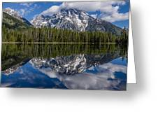 Reflections On String Lake Greeting Card