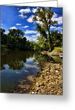 Reflections On The Kankakee Greeting Card