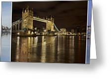 Reflections On The Thames Greeting Card