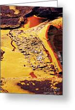 Reflections On Wet Road Greeting Card by Jeremy Woodhouse