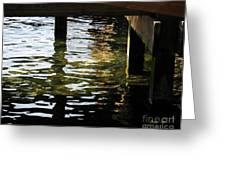 Reflections Under Pier Greeting Card