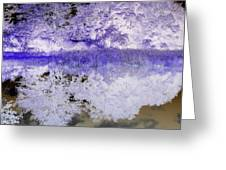Reflective Abstracts Greeting Card by Kim Galluzzo Wozniak