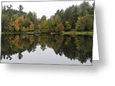 Reflective Turtle Pond - Adirondack Park New York Greeting Card
