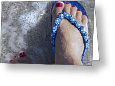 Refreshing Foot Greeting Card
