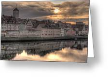 Regensburg Cityscape Greeting Card