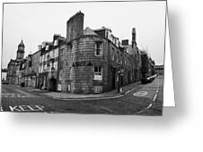 Regent Quay And Marischal Street Aberdeen Scotland Uk Greeting Card