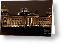 Reichstag At Night Greeting Card