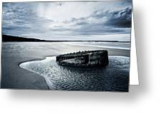 Reighton Sands Beach Greeting Card