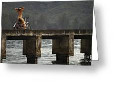 Relaxed Ride Hanalei Bay Greeting Card