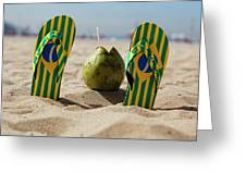 Relaxing On Copacabana Greeting Card