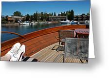 Relaxing On Lake Tahoe Greeting Card