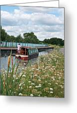 Relaxing On The Canal Greeting Card
