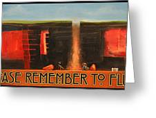 Remember To Flush Poster Greeting Card