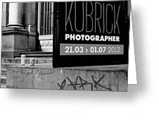 Remembering Kubrick Greeting Card