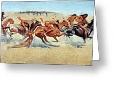 Remington: Indian Warfare Greeting Card