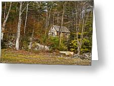 Remote Vermont Cabin Greeting Card