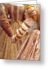 Renaissance Couple Holding Hands Greeting Card
