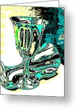 Renaissance Toasting Goblets Photograph And Digital Painting Greeting Card
