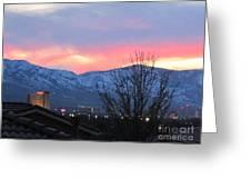 Reno At Night Greeting Card