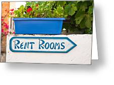 Rent Rooms Sign Greeting Card