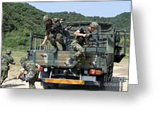Republic Of Korea Marines Dismount Greeting Card