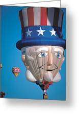 Republican Balloon Flys At Albuquerque Greeting Card by Carl Purcell