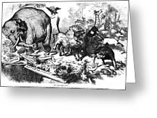 Republican Elephant, 1874 Greeting Card