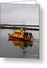 Rescue Boat Greeting Card