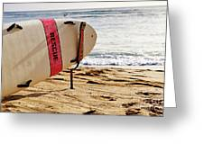 Rescue Surfboard Greeting Card