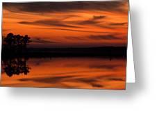 Reservoir Sunset Greeting Card