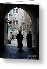 Residents Of Jerusalem Old City Greeting Card