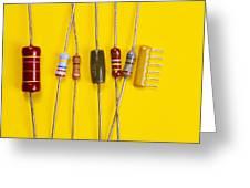 Resistors Greeting Card by Andrew Lambert Photography