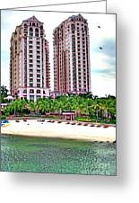 Resort Hotel Mactan Island Greeting Card