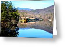 Restaurant Over Looking The Lake In North Carolina Greeting Card