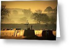 Resting Narrowboats Greeting Card