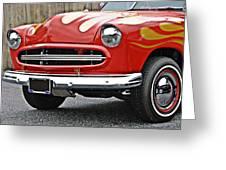Restored Classic Car Greeting Card