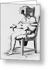 Restraining Chair 1811 Greeting Card