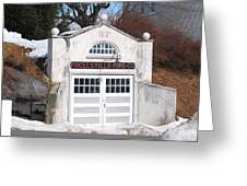 Retired Fire Station Greeting Card
