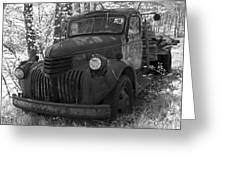 Retired Rusty Relic Farm Truck Greeting Card