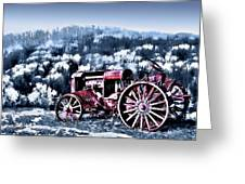 Retired Tractor Greeting Card by Suni Roveto