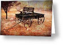 Retired Wagon 2 Greeting Card